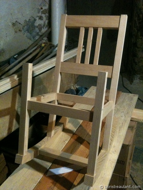 Rocking chair enfant : Assemblage